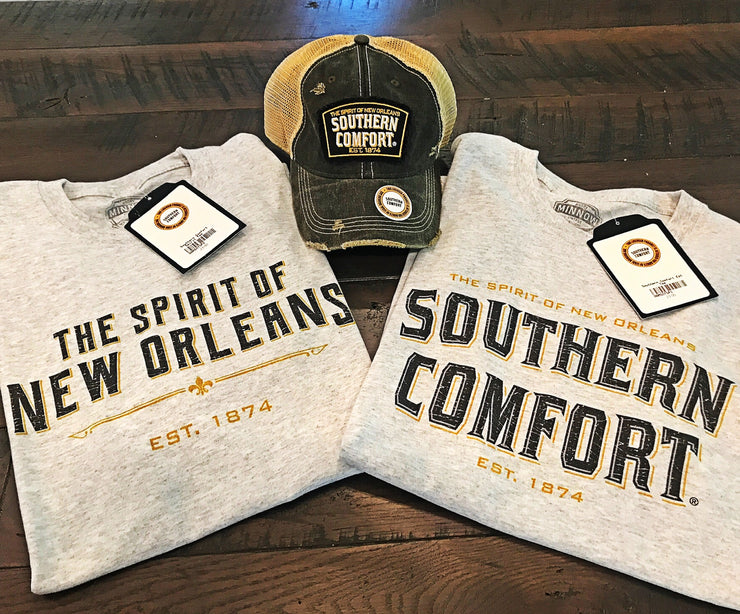 Southern Comfort Spirit of New Orleans Tee- Heather Grey