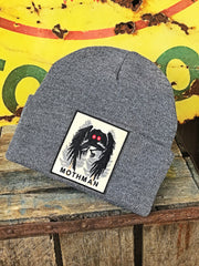 Mothman stocking Hat- Grey Angry Minnow Vintage