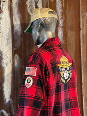 Wild Women Dance Art Flannel- Distressed Ember- Angry Minnow Vintage