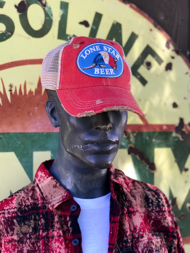 Lone Star Beer Distressed Ball Cap