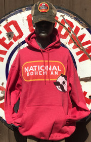 National Bohemian Hoodie- Red Angry Minnow Vintage Officially Licensed
