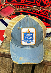 Lone Star Beer Light Distressed Ball Cap