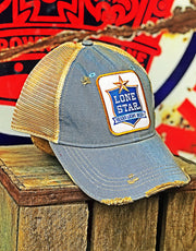 Lone Star Beer Hat- Sky Blue Snapback Angry Minnow Vintage