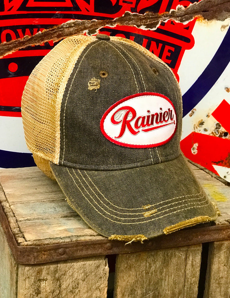 Rainier Beer Distressed Baseball Cap