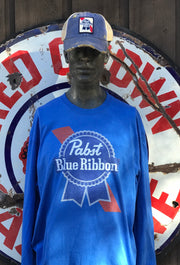 Pabst Blue Ribbon Long Sleeve Vintage Tee