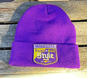 Old Style Minnesota Stocking Cap- Purple