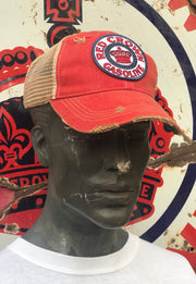 Red Crown Gasoline Hat- Distressed Red Snapback