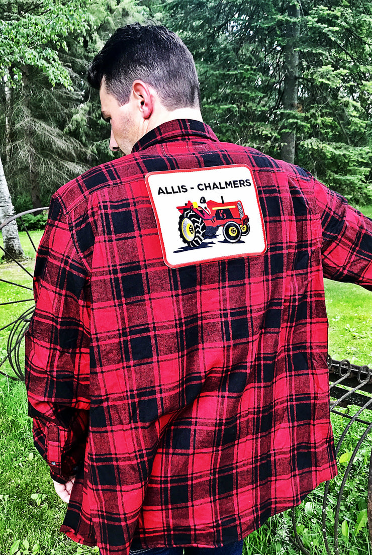 Allis Chalmers Flannel Angry Minnow Vintage