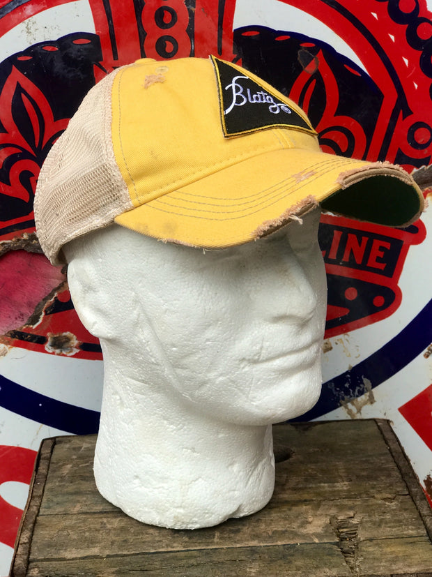 Blatz Distressed Ball Cap Angry Minnow Vintage
