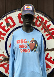 King Ding Dong Hostess Long Sleeved Tee- Sky Blue