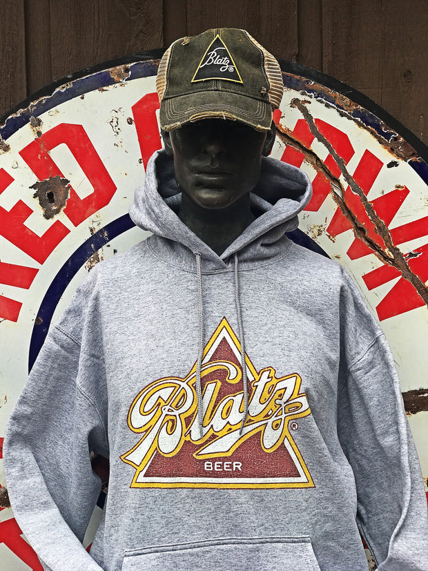 Blatz Hoodie Sweatshirt- Heather Grey Officially licensed