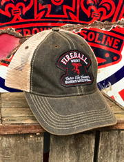 Fireball Whiskey Hat Angry Minnow Vintage