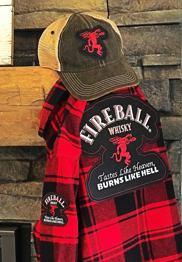 Fireball Whisky Apparel Angry Minnow Vintage