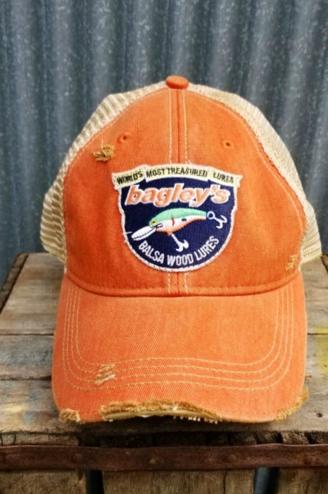 Fishing Hat Angry Minnow Vintage