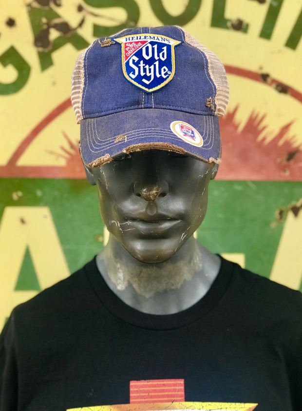 Old Style Hat- Distressed Royal Blue