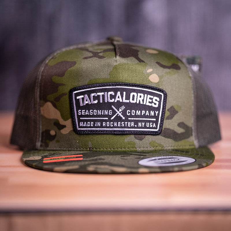 "Tacticalories ""Real Patch"" Camo Flat Brim Snapback"