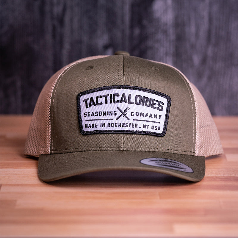 "Tacticalories ""Real Patch"" Loden Green & Tan Trucker Snapback"