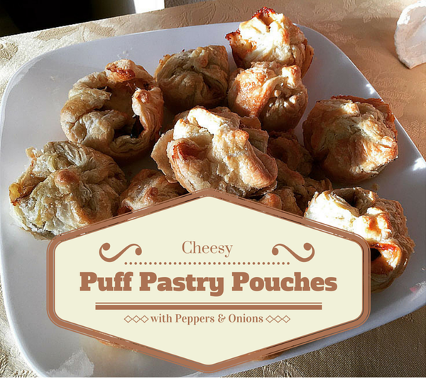 Cheesy Puff Pastry Pouches