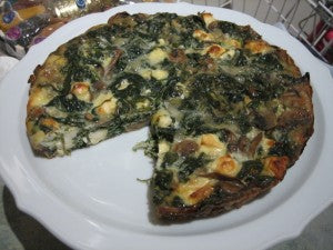 Crustless Power Quiche with Mushrooms, Feta and PUH-LENTY of Spinach