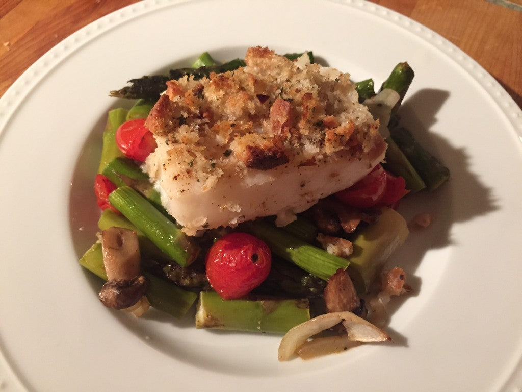 Crispy Baked Cod With Butter and Sage