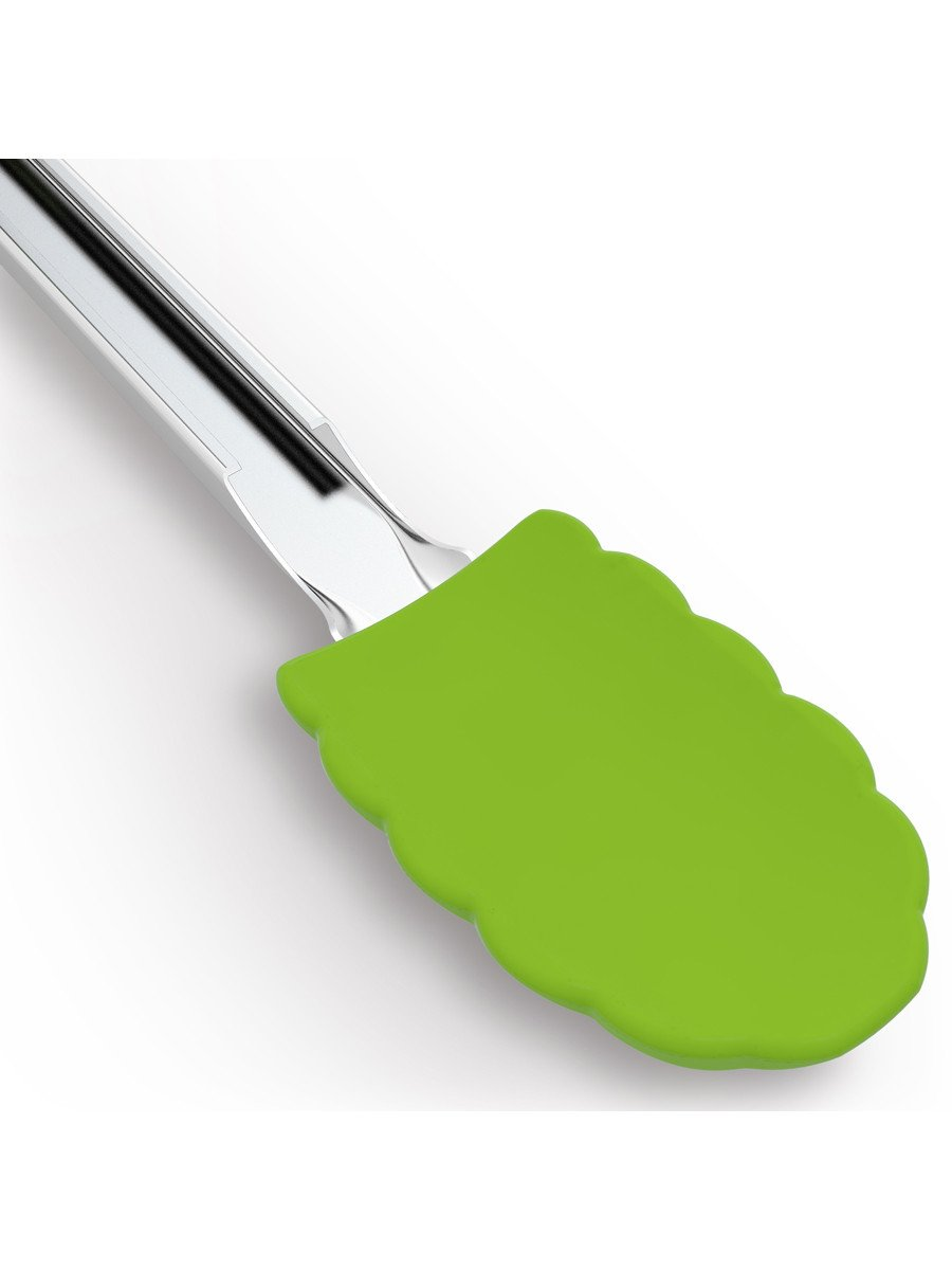EZ-Grip Silicone & Stainless Steel Ergonomic Kitchen Tongs - Cooler Kitchen