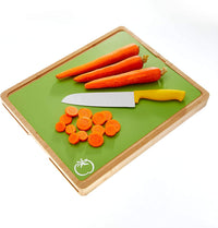 "Extra Thick Flexible Cutting Mats With Food Icons & ""EZ-Grip"" Back(Set Of 4) - Cooler Kitchen"