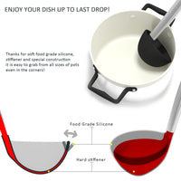 Silicone & Stainless Steel Soup Ladle w/CoolerGrip Handle & Flexedge Silicone