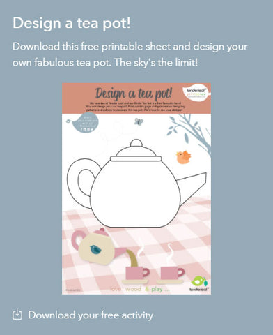 Birdie Tea Set Printable