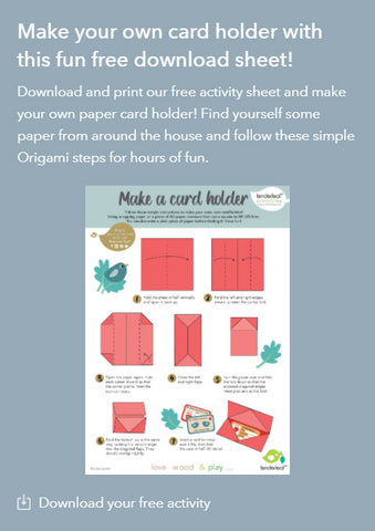 Origami Card holder Printable