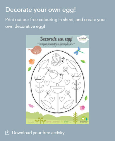Decorate an Egg Printable