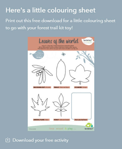 Forest Trail Leaves Printable