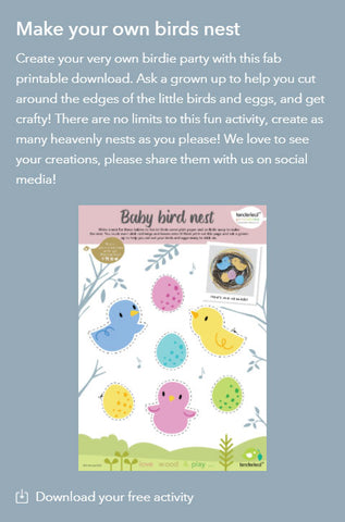 Baby Bird Nest Printable