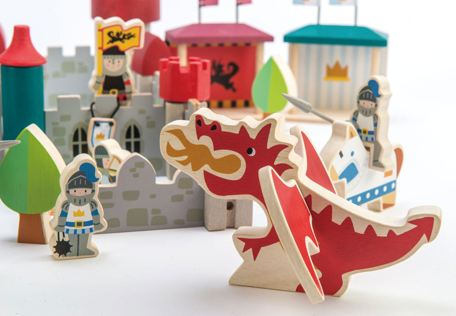 Dragon Castle Chateau de Dragon Create A New Layout Every Time Tender Leaf Toys
