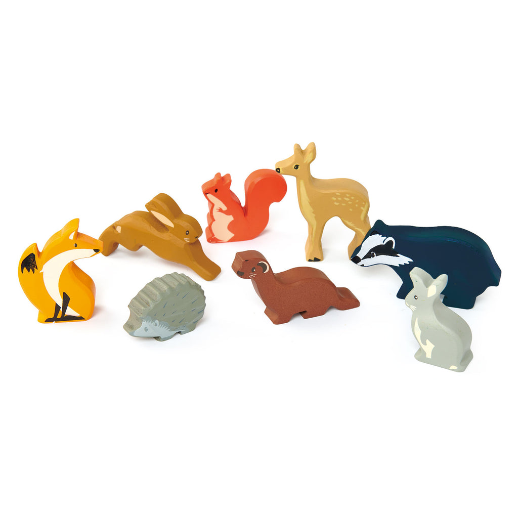Woodland Animals - 3 of each piece in a display stand