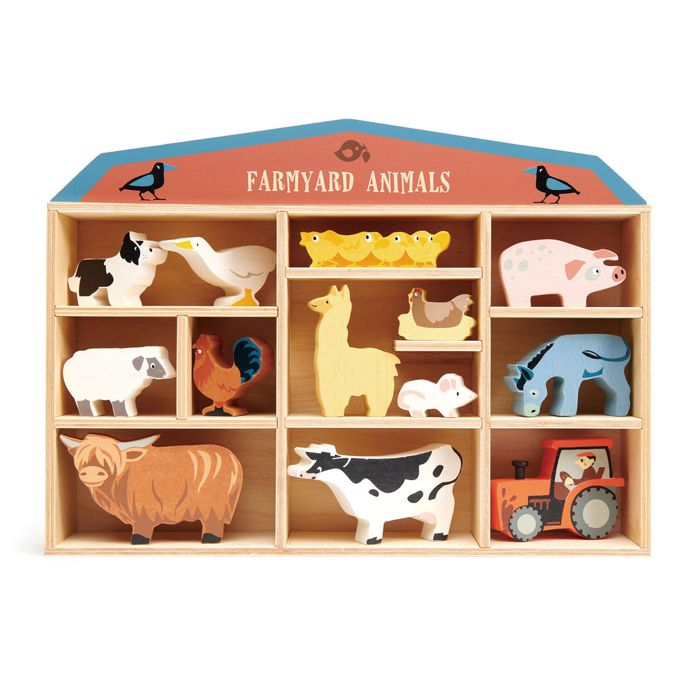 Farmyard Animals - 3 of each piece in a display stand
