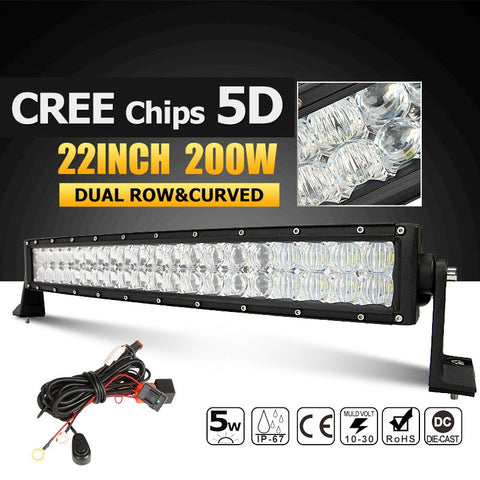 22 Inch LED Light Bar 5D