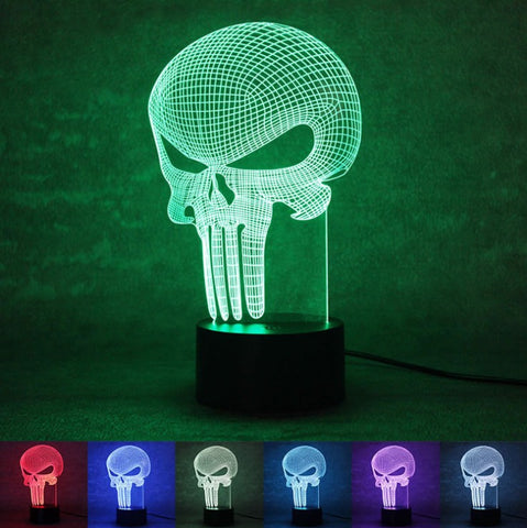3D Punisher Lamp