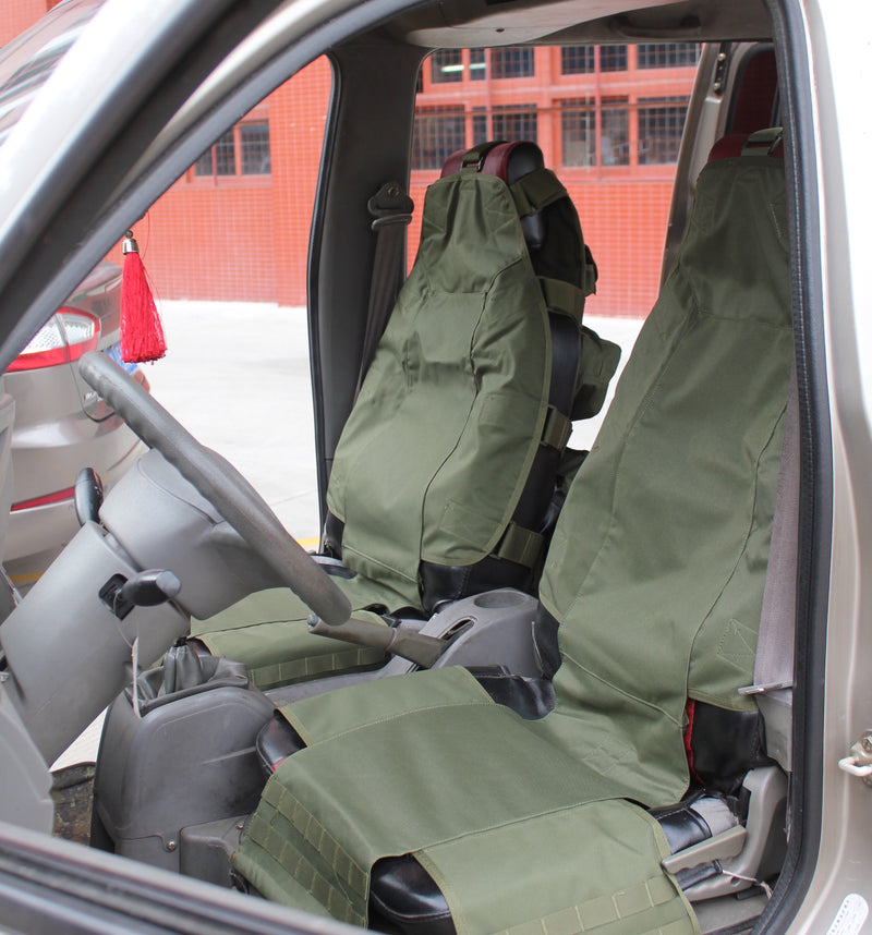 MOLLE Military Vehicle Organizer & Front Seat CoverÑHigh Density ...