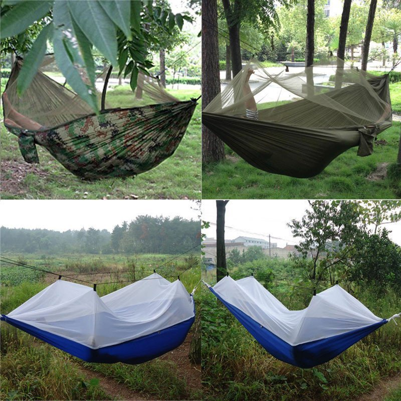 Bug Cover Camping Hammock 8ft Long 4ft Wide Holds Up To 300lbs