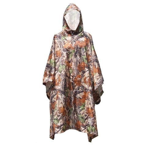 Camo Packable Rain Poncho