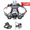 Triple Barrel™ 3000 Lumens 4 Modes Headlight Head Lamp