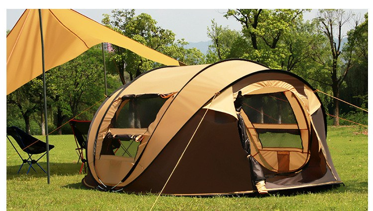 Insta Pop Up C&ing Tent & Large Family Sized Instant Pop Up Camping Tent That Sleeps 4-5 ...