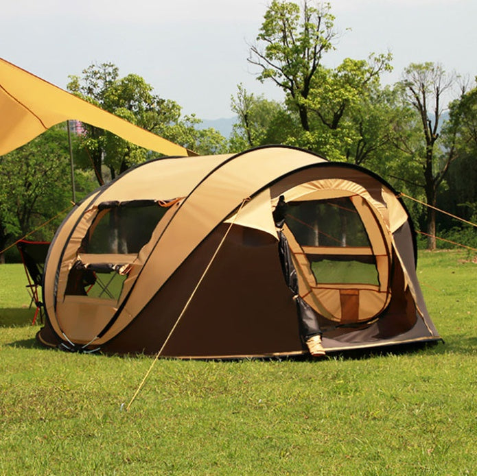 large family sized instant pop up camping tent that sleeps 4 5