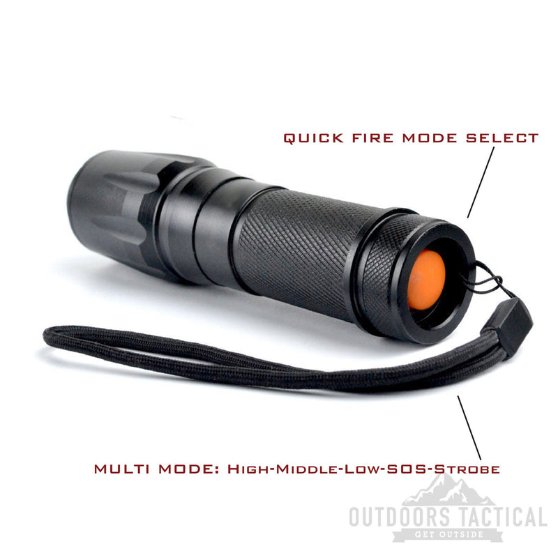 OT1000 LED Flashlight Torch - Outdoors Tactical
