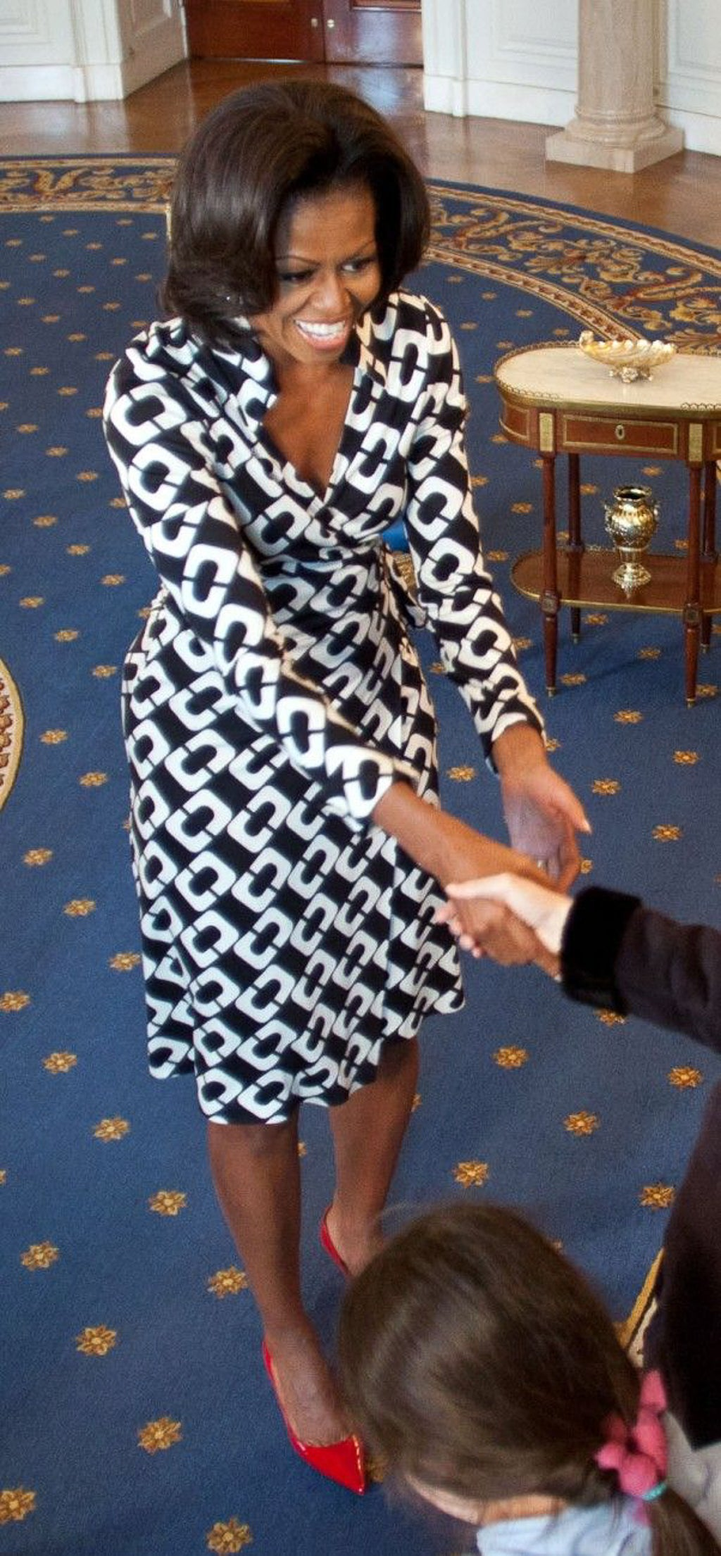 Michelle Obama in DVF