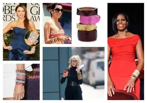 Celebrities wearing bangle bracelets