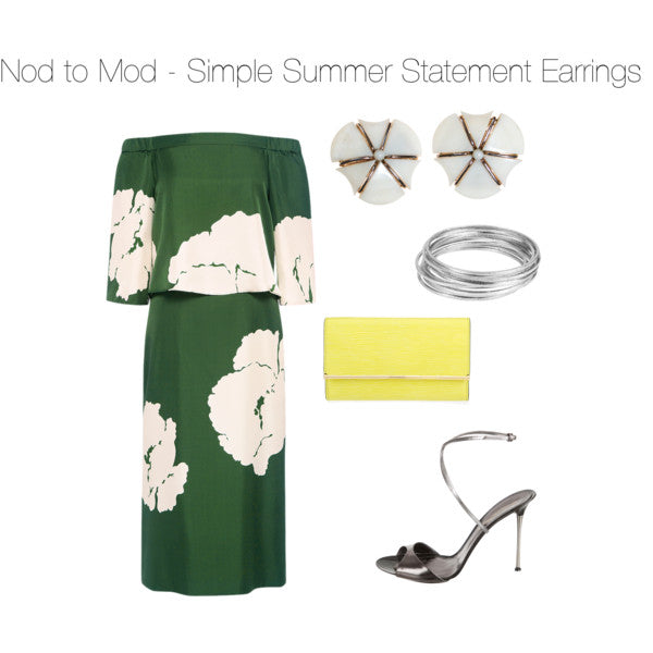 Nod to Mod - Simple Summer Statement Earrinngs