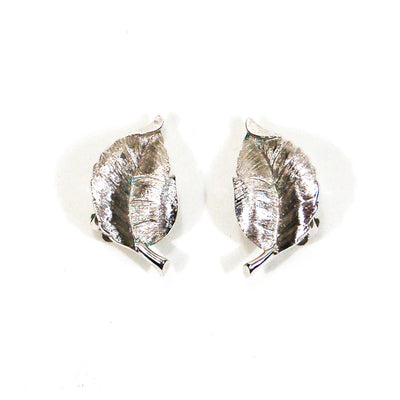 Crown Trifari Silver Leaf Earrings by Crown Trifari - Vintage Meet Modern Vintage Jewelry - Chicago, Illinois - #oldhollywoodglamour #vintagemeetmodern #designervintage #jewelrybox #antiquejewelry #vintagejewelry