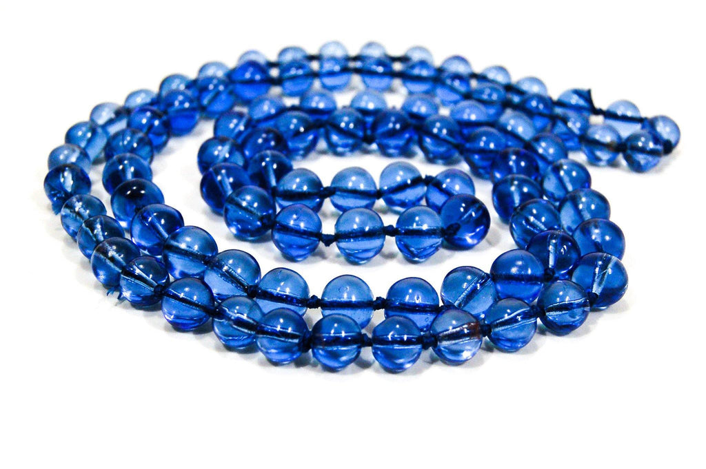 Art Deco Blue Crystal Beaded Necklace, Necklaces - Vintage Meet Modern