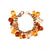 Vintage Joan Rivers Bracelet with Citrine and Topaz Lucite Faceted Crystal Charms